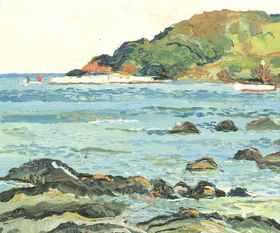 <span class=&#34;link fancybox-details-link&#34;><a href=&#34;/artists/91-fred-yates/works/3214-fred-yates-looe-island/&#34;>View Detail Page</a></span><div class=&#34;artist&#34;><strong>Fred Yates</strong></div> 1922 - 2008 <div class=&#34;title&#34;><em>Looe Island</em></div> <div class=&#34;signed_and_dated&#34;>signed and inscribed on reverse</div> <div class=&#34;medium&#34;>oil on board</div> <div class=&#34;dimensions&#34;>27 x 32 cm<br />10 5/8 x 12 5/8 inches</div><div class=&#34;copyright_line&#34;>Copyright The Artist</div>
