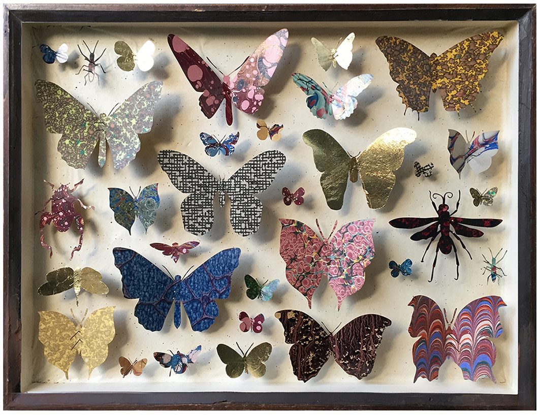 "<span class=""link fancybox-details-link""><a href=""/artists/142-helen-ward/works/6235-helen-ward-entomology-case-9-2019/"">View Detail Page</a></span><div class=""artist""><strong>Helen Ward</strong></div> <div class=""title""><em>Entomology Case 9</em>, 2019</div> <div class=""medium"">Victorian entomology drawer, hand-marbled papers, gold leaf, entamel pins</div> <div class=""dimensions"">29 x 39 cm</div><div class=""copyright_line"">Own Art: £ 59.50 x 10 Monthly 0% APR Payments</div>"