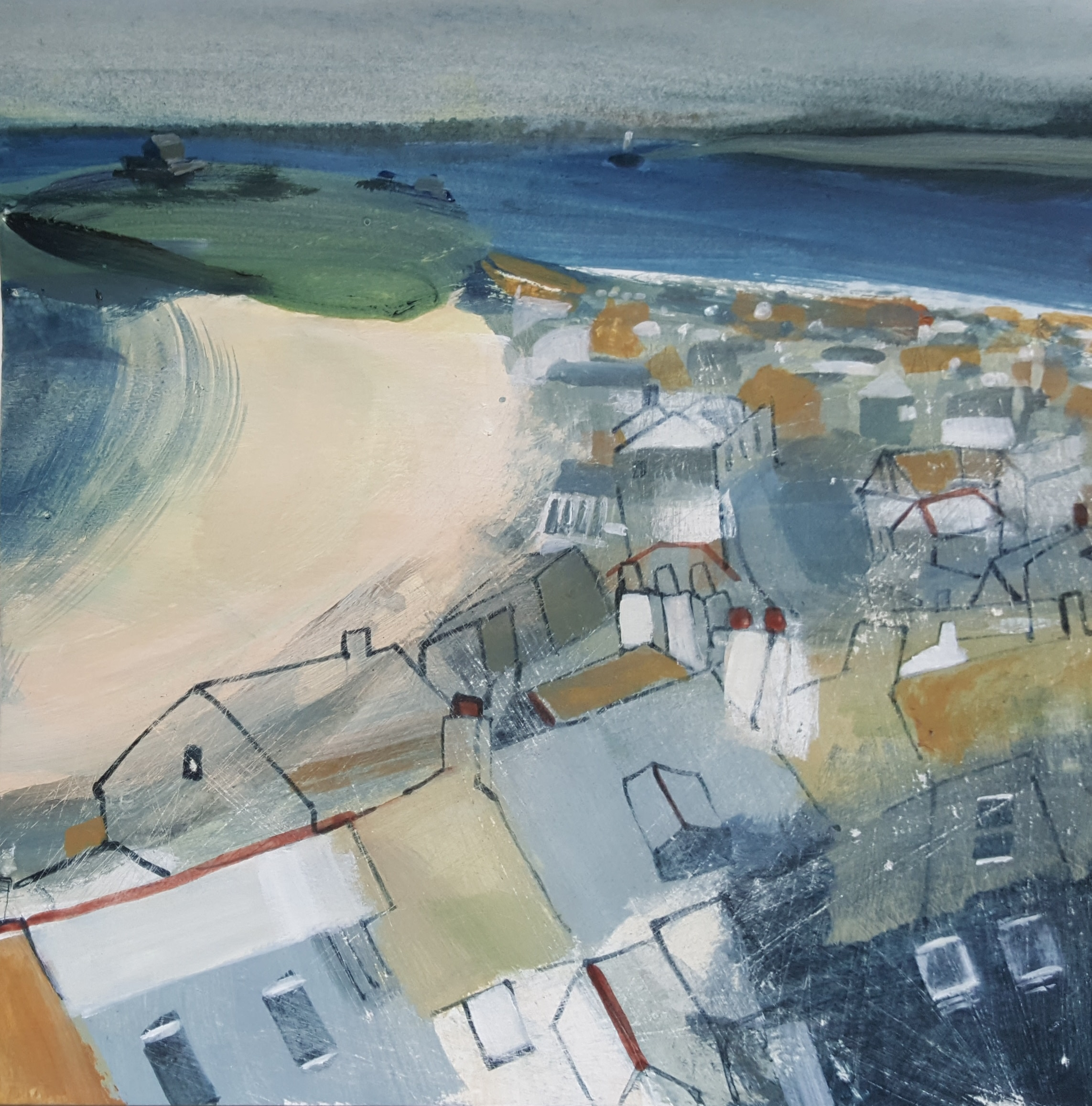 <span class=&#34;link fancybox-details-link&#34;><a href=&#34;/artists/177-jane-askey/works/5517-jane-askey-roof-tops-and-porthmeor-beach-2018/&#34;>View Detail Page</a></span><div class=&#34;artist&#34;><strong>Jane Askey</strong></div> <div class=&#34;title&#34;><em>Roof Tops and Porthmeor Beach</em>, 2018</div> <div class=&#34;signed_and_dated&#34;>signed</div> <div class=&#34;medium&#34;>mixed media on paper</div> <div class=&#34;dimensions&#34;>38 x 38 cm<br /> 15 x 15 inches</div><div class=&#34;copyright_line&#34;>OwnArt: £ 36.50 x 10 Months, 0% APR</div>