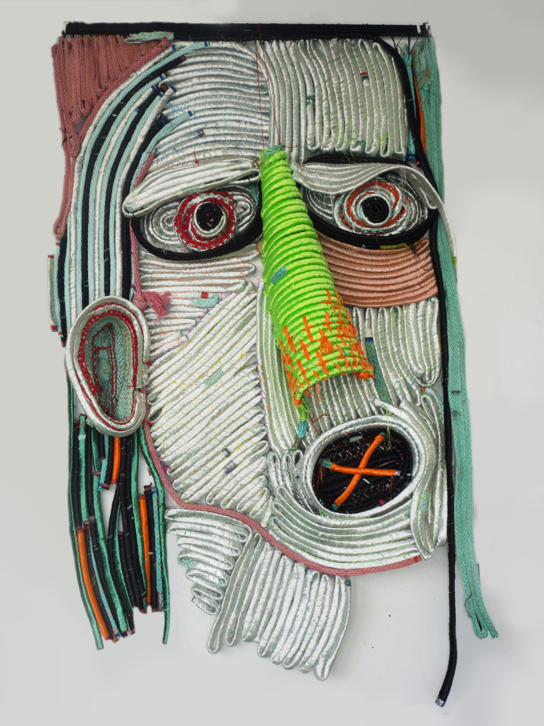 <span class=&#34;link fancybox-details-link&#34;><a href=&#34;/artists/66-joana-schneider/works/5526-joana-schneider-fugitive-2019/&#34;>View Detail Page</a></span><div class=&#34;artist&#34;><strong>Joana Schneider</strong></div> <div class=&#34;title&#34;><em>Fugitive</em>, 2019</div> <div class=&#34;medium&#34;>Recycled yarn and rope waste</div> <div class=&#34;dimensions&#34;>300 x 200 cm<br /> 118 1/8 x 78 3/4 in</div>