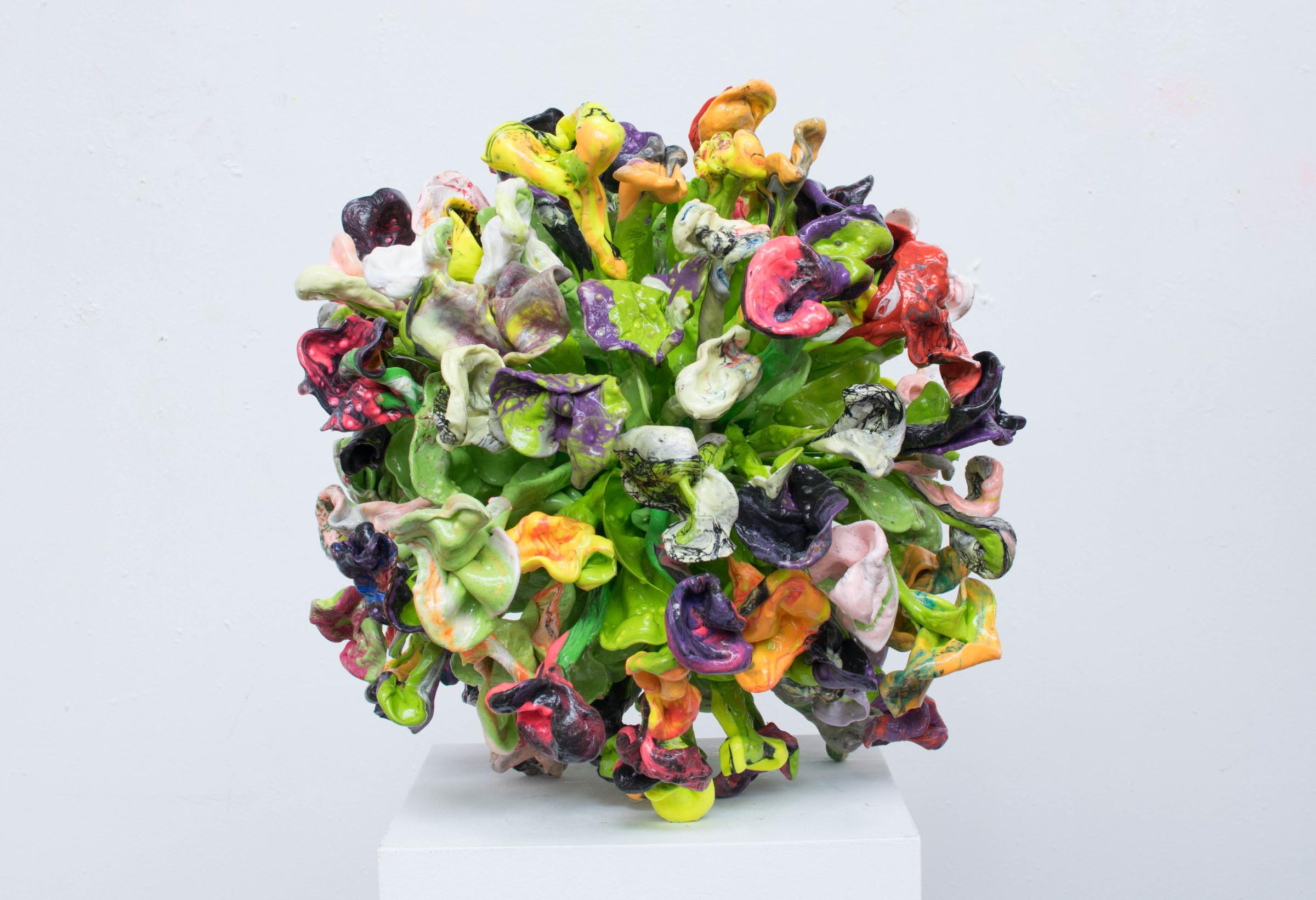 """<span class=""""link fancybox-details-link""""><a href=""""/artists/42-stefan-gross/works/5336-stefan-gross-flower-bomb-2019/"""">View Detail Page</a></span><div class=""""artist""""><strong>Stefan Gross</strong></div> <div class=""""title""""><em>Flower Bomb</em>, 2019</div> <div class=""""medium"""">Oil Plastic</div> <div class=""""dimensions"""">40 cm</div><div class=""""price"""">€3,900.00</div>"""
