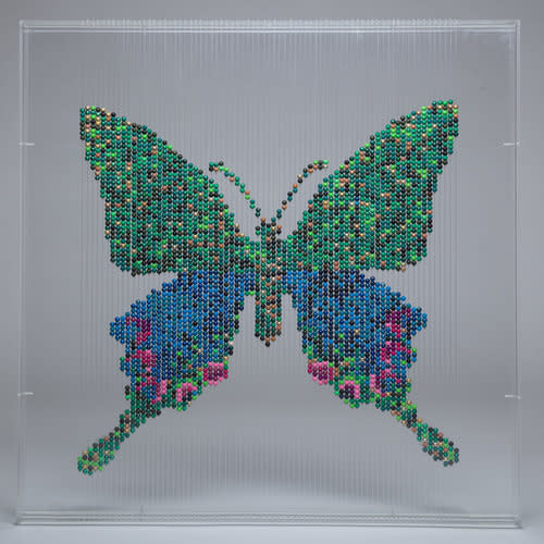 <span class=&#34;link fancybox-details-link&#34;><a href=&#34;/artists/51-natasja-van-der-meer/works/4983-natasja-van-der-meer-butterfly-2016/&#34;>View Detail Page</a></span><div class=&#34;artist&#34;><strong>Natasja van der Meer</strong></div> <div class=&#34;title&#34;><em>Butterfly</em>, 2016</div> <div class=&#34;medium&#34;>wood, elastic thread, perspex</div> <div class=&#34;dimensions&#34;>80 x 80 x 6 cm</div> <div class=&#34;edition_details&#34;>Edition 3 of 3</div>
