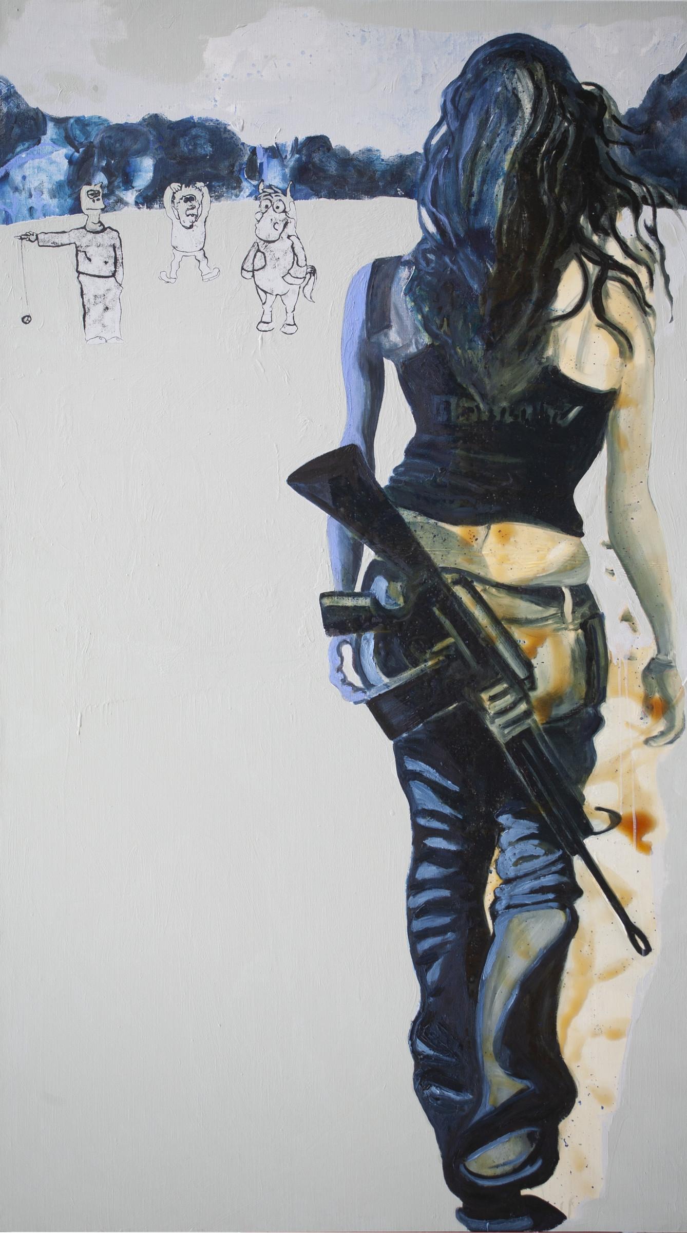 <span class=&#34;link fancybox-details-link&#34;><a href=&#34;/artists/26-rob-visje/works/4934-rob-visje-woman-with-gun-special/&#34;>View Detail Page</a></span><div class=&#34;artist&#34;><strong>Rob Visje</strong></div> <div class=&#34;title&#34;><em>Woman with gun special </em></div> <div class=&#34;medium&#34;>Mixed Media</div> <div class=&#34;dimensions&#34;>200 x 110 cm</div>