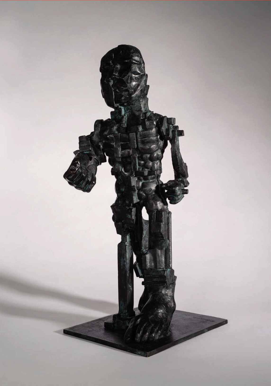 """<span class=""""link fancybox-details-link""""><a href=""""/artists/60-eduardo-paolozzi/works/401/"""">View Detail Page</a></span><div class=""""artist""""><strong>Eduardo Paolozzi</strong></div> <div class=""""title""""><em>Vulcan</em>, 1998</div> <div class=""""signed_and_dated"""">signed (inscribed) 'Paolozzi' a/c<br /> </div> <div class=""""medium"""">Bronze - a/c (after edition of 2)</div> <div class=""""dimensions"""">60.5 x 24 x 29cm</div><div class=""""copyright_line"""">Copyright The Artist</div>"""