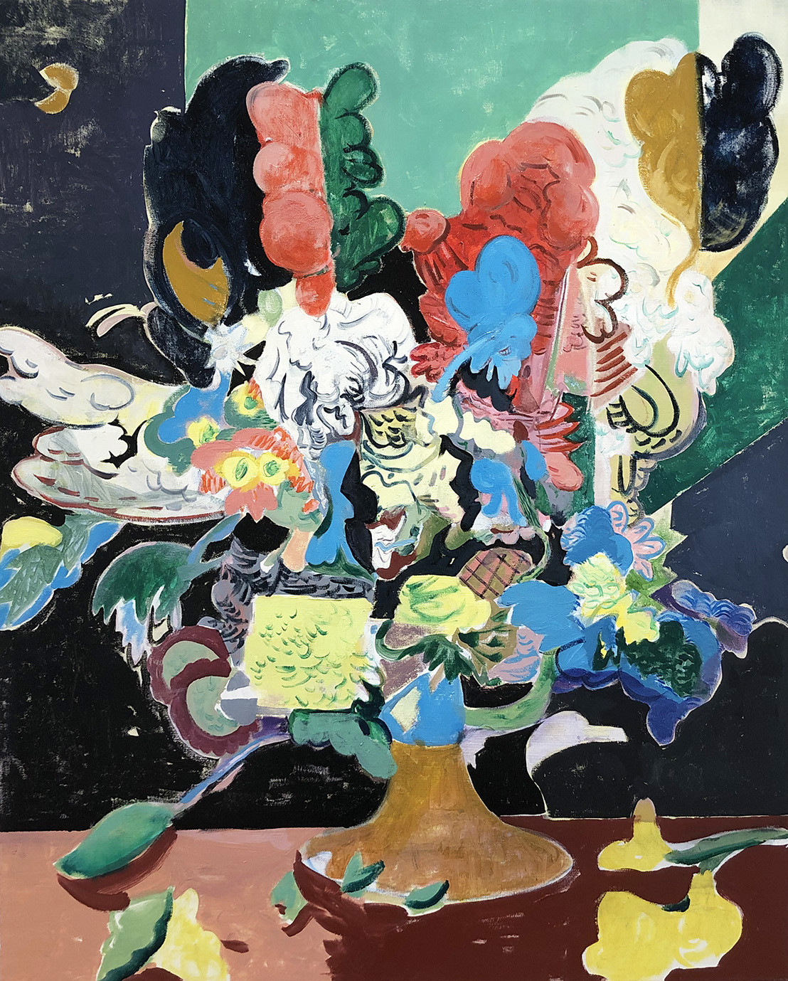 "<span class=""link fancybox-details-link""><a href=""/artists/50-david-price/works/498/"">View Detail Page</a></span><div class=""artist""><strong>David Price</strong></div> <div class=""title""><em>Still Life, June</em>, 2018</div> <div class=""medium"">Oil on canvas</div> <div class=""dimensions"">100 x 81cm</div><div class=""copyright_line"">Copyright The Artist</div>"