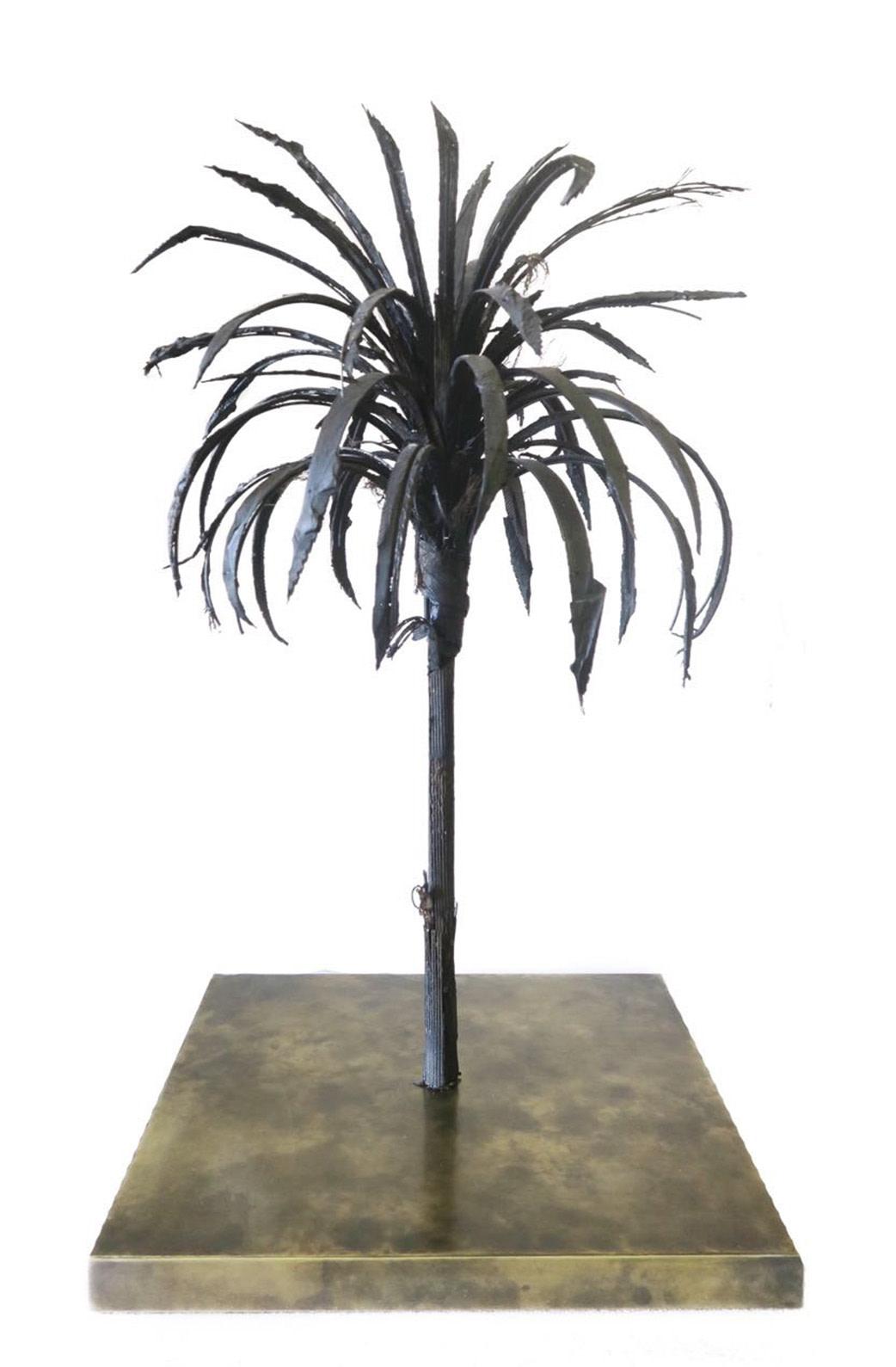 <span class=&#34;link fancybox-details-link&#34;><a href=&#34;/exhibitions/13/works/artworks502/&#34;>View Detail Page</a></span><div class=&#34;artist&#34;><strong>Douglas White</strong></div><div class=&#34;title&#34;><em>Black Palm</em>, 2018</div><div class=&#34;medium&#34;>Tyre fragments, steel, brass base</div><div class=&#34;dimensions&#34;>75x40x40cm </div>