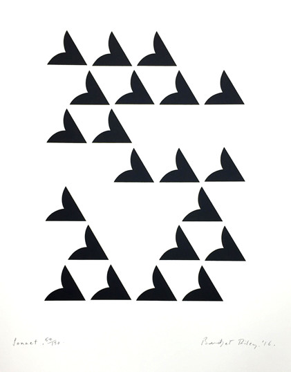 <span class=&#34;link fancybox-details-link&#34;><a href=&#34;/artists/72-bridget-riley/works/1020/&#34;>View Detail Page</a></span><div class=&#34;artist&#34;><strong>Bridget Riley</strong></div> b.1931 <div class=&#34;title&#34;><em>Sonnet</em>, 2016</div> <div class=&#34;signed_and_dated&#34;>signed and dated in pencil <br /> from the edition of 150 </div> <div class=&#34;medium&#34;>screenprint on paper</div> <div class=&#34;dimensions&#34;>69 x 56cm</div> <div class=&#34;edition_details&#34;>from the edition of 150</div><div class=&#34;copyright_line&#34;>Copyright The Artist</div>