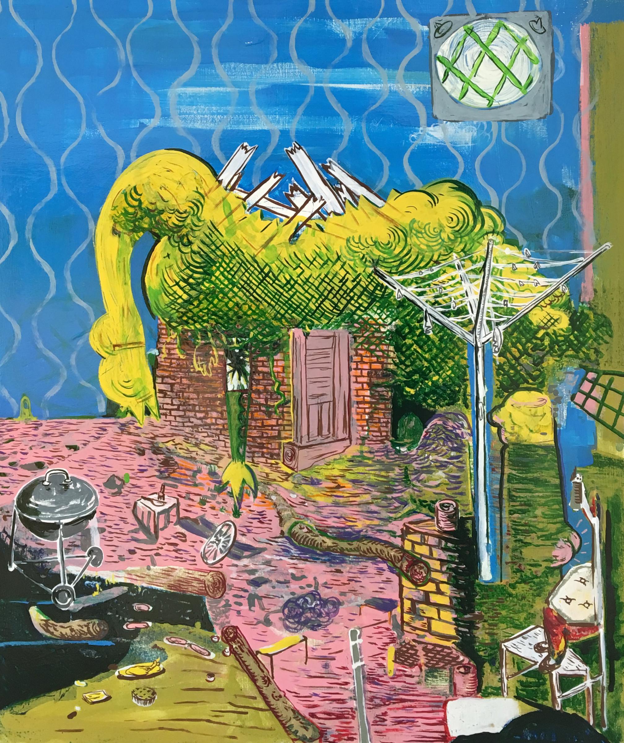 "<span class=""link fancybox-details-link""><a href=""/artists/50-david-price/works/295/"">View Detail Page</a></span><div class=""artist""><strong>David Price</strong></div> b.1972 <div class=""title""><em>The Rubber Chicken's Dream</em>, 2017</div> <div class=""medium"">oil on panel</div> <div class=""dimensions"">19 3/4 x 15 3/4 in<br /> 50 x 40 cm</div><div class=""copyright_line"">Copyright The Artist</div>"