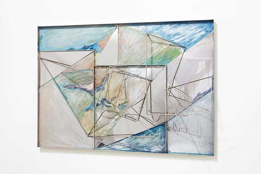 <span class=&#34;link fancybox-details-link&#34;><a href=&#34;/exhibitions/7/works/artworks319/&#34;>View Detail Page</a></span><div class=&#34;artist&#34;><strong>Sara Barker</strong></div><p>born 1980</p><div class=&#34;title&#34;><em>Island to Island</em>, 2016</div><div class=&#34;medium&#34;>Steel rod, automotive paint, folded aluminium tray</div><div class=&#34;dimensions&#34;>82 x 117 x 30cm</div>