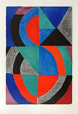 <span class=&#34;link fancybox-details-link&#34;><a href=&#34;/content/viewing-room/29/artworks431/&#34;>View Detail Page</a></span><div class=&#34;artist&#34;><strong>Sonia Delaunay</strong></div> 1885 - 1979<div class=&#34;title&#34;><em>Grande Ic&#244;ne</em>, c.1970</div><div class=&#34;signed_and_dated&#34;>signed in pencil and inscribed EA</div><div class=&#34;medium&#34;>lithograph on arches paper</div><div class=&#34;dimensions&#34;>35 3/8 x 24 3/4 in<br>90 x 63 cm</div><div class=&#34;edition_details&#34;>EA XV/XXV aside from an edition of 150</div>