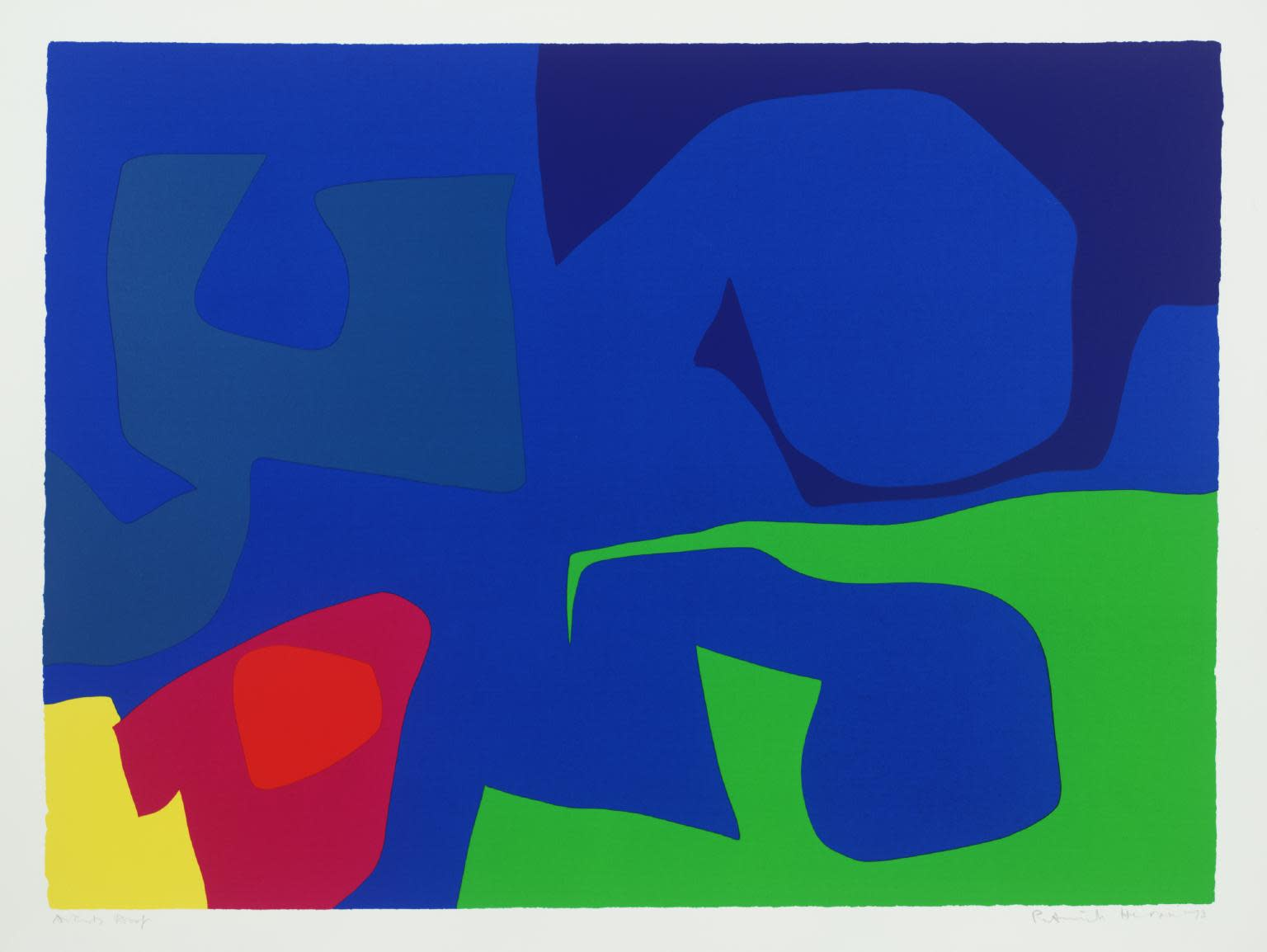 "<span class=""link fancybox-details-link""><a href=""/artists/74-patrick-heron/works/1012/"">View Detail Page</a></span><div class=""artist""><strong>Patrick Heron</strong></div> 1920 - 1999 <div class=""title""><em>January 1973: 19</em>, 1973</div> <div class=""signed_and_dated"">signed and dated in pencil, verso is the publishers stamp<br /> from the edition of 72</div> <div class=""medium"">screenprint</div> <div class=""dimensions"">58.6 x 81.4cm</div>"