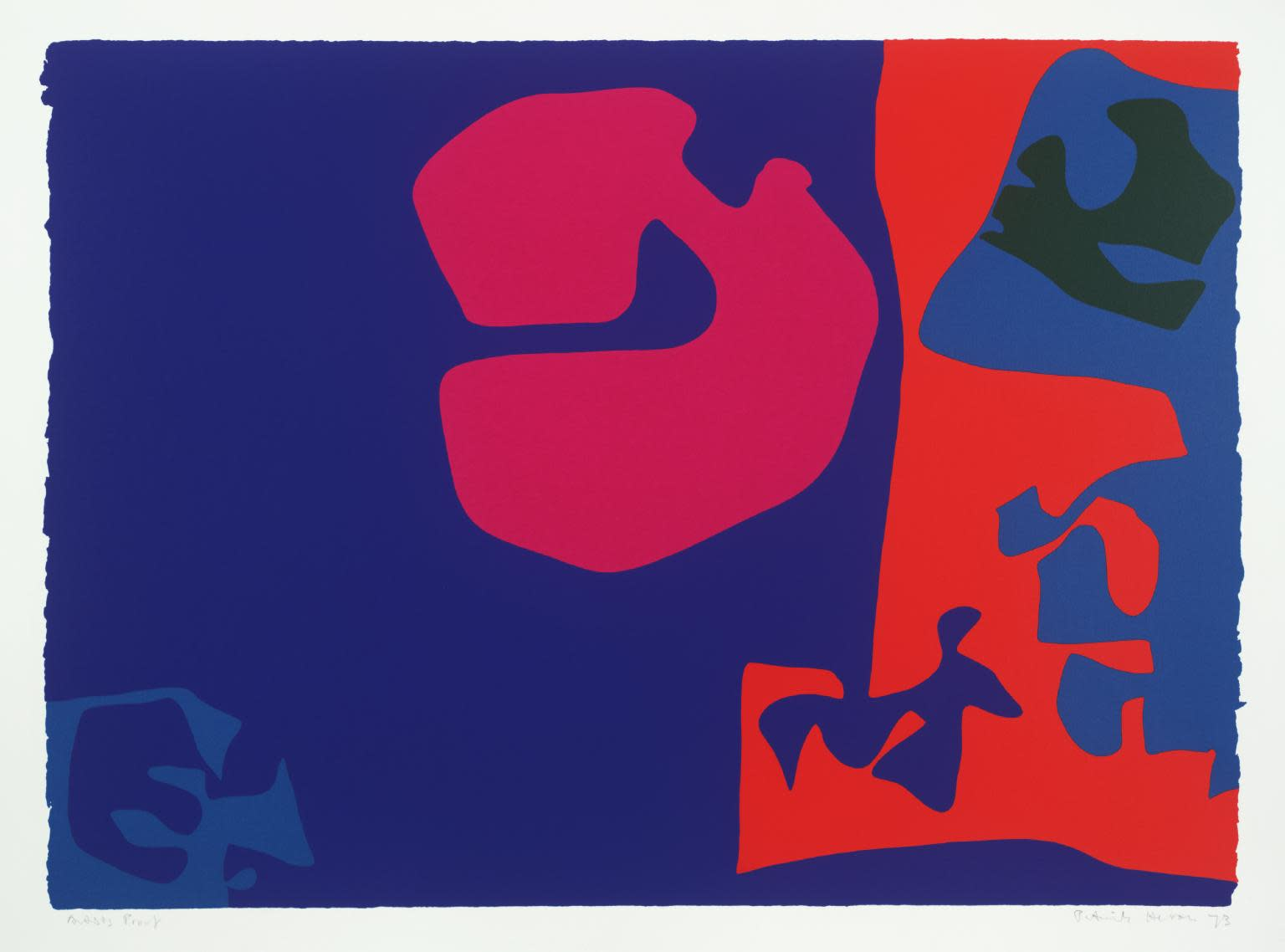 "<span class=""link fancybox-details-link""><a href=""/artists/74-patrick-heron/works/1009/"">View Detail Page</a></span><div class=""artist""><strong>Patrick Heron</strong></div> 1920 - 1999 <div class=""title""><em>January 1973: Plate 17</em>, 1973</div> <div class=""signed_and_dated"">signed and dated in pencil, verso is the publishers stamp<br /> from the edition of 72</div> <div class=""medium"">screenprint</div> <div class=""dimensions"">68 x 92.3cm</div>"