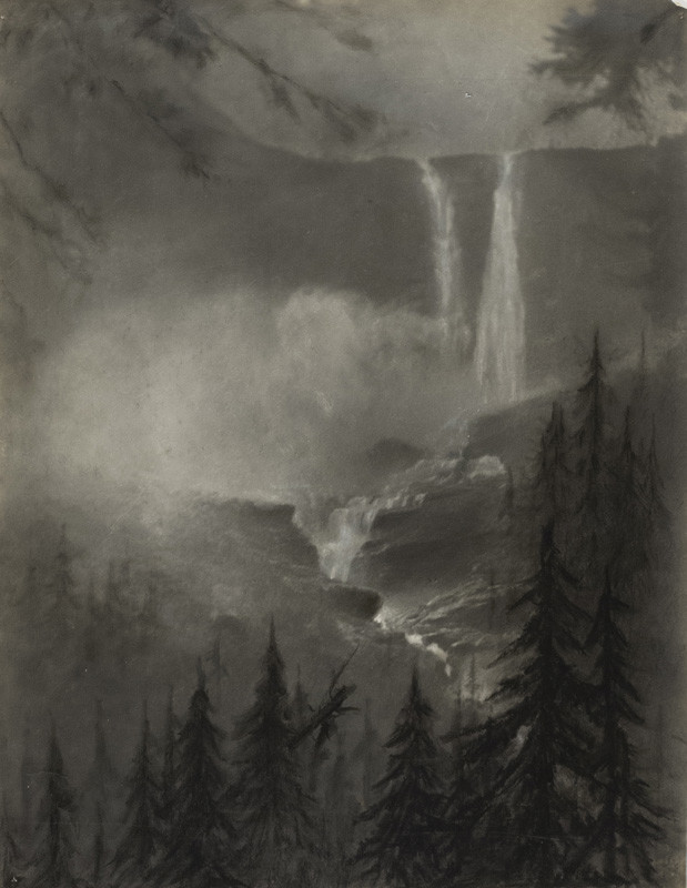 <span class=&#34;link fancybox-details-link&#34;><a href=&#34;/artists/129-minna-keene/works/34187-minna-keene-rockies-waterfall-circa-1914/&#34;>View Detail Page</a></span><div class=&#34;artist&#34;><strong>Minna Keene</strong></div> 1861-1943 <div class=&#34;title&#34;><em>Rockies Waterfall</em>, circa 1914</div> <div class=&#34;signed_and_dated&#34;>Annotated &#34;paper negative for carbon print&#34;, in pencil, au verso<br /> Estate # M94 <br /> Printed circa 1914</div> <div class=&#34;medium&#34;>Silver bromide print flush mounted to two-ply period board</div> <div class=&#34;dimensions&#34;>9 ½ x 12 ¼ inch (24.13 x 31.12 cm)</div> <div class=&#34;edition_details&#34;></div>
