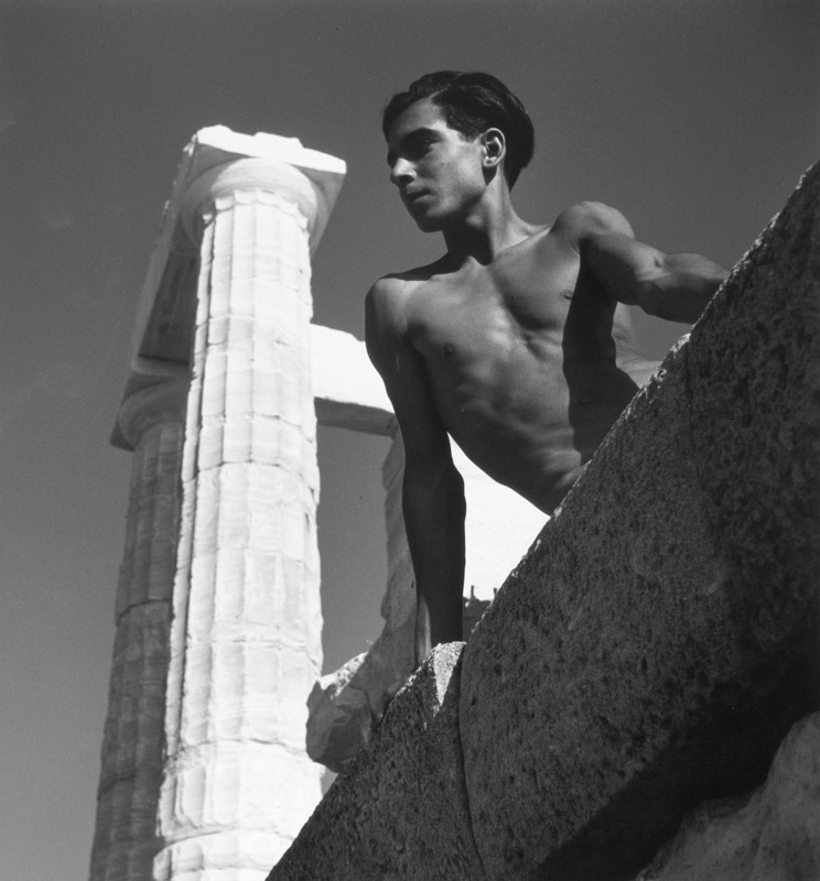"<span class=""link fancybox-details-link""><a href=""/artists/52-herbert-list/works/20882-herbert-list-beneath-the-poseidon-temple-athen-sounion-greece-1938/"">View Detail Page</a></span><div class=""artist""><strong>Herbert List</strong></div> 1903-1975 <div class=""title""><em>Beneath the Poseidon Temple, Athen, Sounion, Greece</em>, 1938</div> <div class=""signed_and_dated"">Titled, dated, and editioned, with estate stamp, in ink, au verso<br /> Printed in 2004</div> <div class=""medium"">Gelatin silver print</div> <div class=""dimensions"">11 x 11 ¾ inch (27.94 x 29.85 cm) image<br /> 12 x 16 inch (30.48 x 40.64 cm) paper</div> <div class=""edition_details"">Edition of 25 (#9/25)</div><div class=""copyright_line"">© The Estate of Herbert List</div>"
