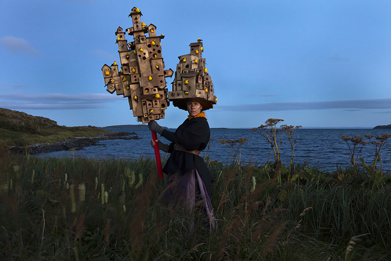 "<span class=""link fancybox-details-link""><a href=""/artists/122/series/as-immense-as-the-sky/34384-meryl-mcmaster-harbourage-for-a-song-2019/"">View Detail Page</a></span><div class=""artist""><strong>Meryl McMaster</strong></div> b. 1988 <div class=""title""><em>Harbourage For A Song</em>, 2019</div> <div class=""signed_and_dated"">From the series ""As Immense as the Sky""<br /> Signed, titled, dated, and editioned, au mount verso</div> <div class=""medium"">Chromogenic print flush mounted to Aluminum Composite Panel</div> <div class=""dimensions"">40 x 60 inch (101.60 x 152.40 cm)</div> <div class=""edition_details"">Edition of 5 + 2 APs</div>"