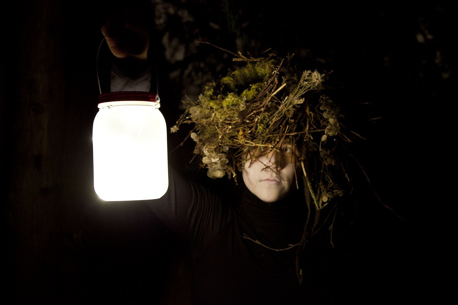 "<span class=""link fancybox-details-link""><a href=""/artists/122/series/wanderings/32474-meryl-mcmaster-night-fragments-2015/"">View Detail Page</a></span><div class=""artist""><strong>Meryl McMaster</strong></div> b. 1988 <div class=""title""><em>Night Fragments</em>, 2015</div> <div class=""signed_and_dated"">From the series ""Wanderings""<br /> Signed, titled, dated, and editioned, au verso<br /> Printed in 2015</div> <div class=""medium"">Pigment print on archival watercolour paper</div> <div class=""dimensions"">30 x 45 inch (76.2 x 114.3 cm)</div> <div class=""edition_details"">Edition of 3 + 2 APs</div><div class=""copyright_line""> </div>"