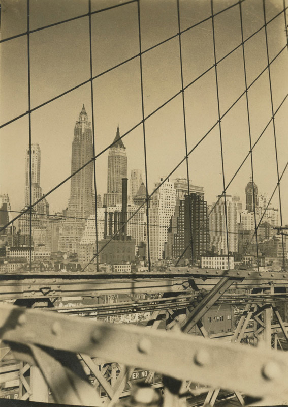 "<span class=""link fancybox-details-link""><a href=""/artists/88-alexander-artway/works/20032-alexander-artway-lower-manhattan-from-brooklyn-bridge-july-1-1935/"">View Detail Page</a></span><div class=""artist""><strong>Alexander Artway</strong></div> <div class=""title""><em>Lower Manhattan from Brooklyn Bridge</em>, July 1, 1935</div> <div class=""signed_and_dated"">Artist stamp, in ink, au verso<br /> Printed circa 1935</div> <div class=""medium"">Gelatin silver print</div> <div class=""dimensions"">4 ¼ x 3 inch (10.8 x 7.62 cm) image<br /> 4 ¾ x 3 ½ inch (12.07 x 8.89 cm) paper</div> <div class=""edition_details""></div>"