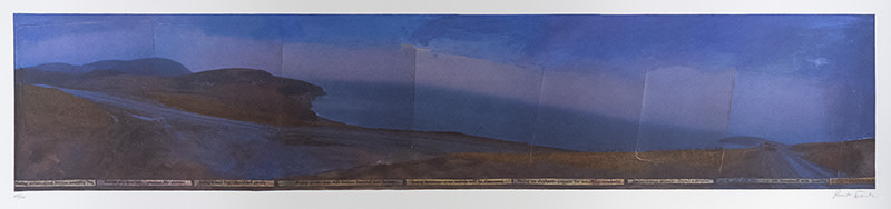 """<span class=""""link fancybox-details-link""""><a href=""""/artists/59-robert-frank/works/7739-robert-frank-mabou-coal-mines-in-collaboration-with-june-leaf-winter-1976-77/"""">View Detail Page</a></span><div class=""""artist""""><strong>Robert Frank</strong></div> 1924-2019 <div class=""""title""""><em>Mabou Coal Mines [in collaboration with June Leaf]</em>, Winter 1976-77</div> <div class=""""signed_and_dated"""">Hand-pulled on a Malibander flatbed press one colour at a time,<br /> With a range of six to eight colour lightfast inks<br /> Signed, in pencil, au verso<br /> Printed in 1980</div> <div class=""""medium"""">250 line-screen print on acid-free Rives cover stock</div> <div class=""""dimensions"""">23 x 39 inch (58.42 x 99.06 cm)</div> <div class=""""edition_details""""></div><div class=""""copyright_line""""> </div>"""