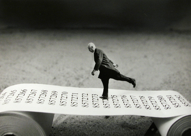 "<span class=""link fancybox-details-link""><a href=""/artists/36-gilbert-garcin/works/13979-gilbert-garcin-aller-simple-one-way-2003/"">View Detail Page</a></span><div class=""artist""><strong>Gilbert Garcin</strong></div> b. 1929 <div class=""title""><em>Aller-simple - One way</em>, 2003</div> <div class=""signed_and_dated"">Printer stamp, in ink, au verso<br /> Printed in March 2005<br /> Artist Ref #234</div> <div class=""medium"">Gelatin silver print</div> <div class=""dimensions"">10 ½ x 15 ¼ inch (26.67 x 38.74 cm) image<br /> 12 x 16 inch (30.48 x 40.64 cm) paper</div> <div class=""edition_details"">Edition of 12 (#GP/12)</div><div class=""copyright_line""> </div>"