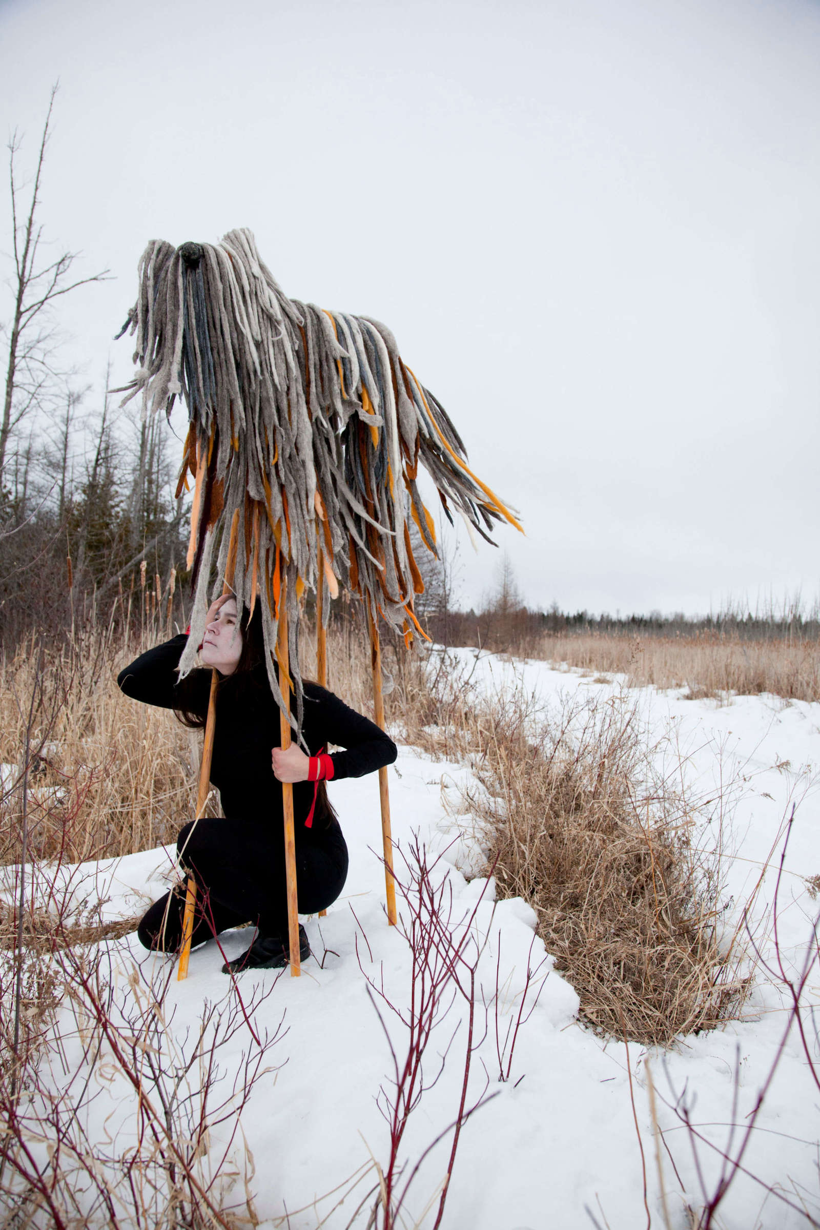"<span class=""link fancybox-details-link""><a href=""/artists/122/series/wanderings/31669-meryl-mcmaster-keeper-s-crossing-2015/"">View Detail Page</a></span><div class=""artist""><strong>Meryl McMaster</strong></div> <div class=""title""><em>Keeper's Crossing</em>, 2015</div> <div class=""signed_and_dated"">From the series ""Wanderings""<br /> Signed, titled, dated, and editioned, au mount verso<br /> Printed 2018</div> <div class=""medium"">Archival pigment print on watercolour paper</div> <div class=""dimensions"">45 x 30 inch (114.3 x 76.2 cm)</div> <div class=""edition_details"">Edition of 3 + 2 APs (#2/3)</div><div class=""copyright_line""> </div>"
