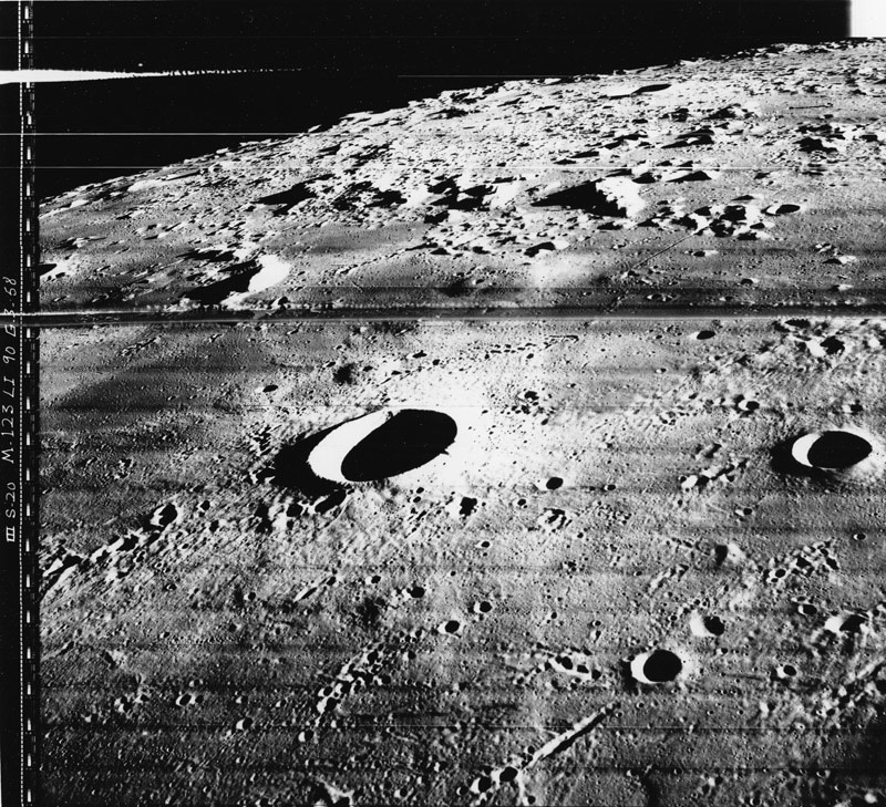"<span class=""link fancybox-details-link""><a href=""/artists/133/series/other-works/18273-nasa-photograph-taken-from-the-lunar-orbiter-iii-feb.-20-1967/"">View Detail Page</a></span><div class=""artist""><strong>NASA</strong></div> <div class=""title""><em>Photograph taken from the Lunar Orbiter III</em>, Feb. 20, 1967</div> <div class=""signed_and_dated"">Photo No. 67-H-332<br /> Printed in 1967</div> <div class=""medium"">Gelatin silver print</div> <div class=""dimensions"">8 x 10 ½ inch (20.32 x 26.67 cm)</div> <div class=""edition_details""></div>"