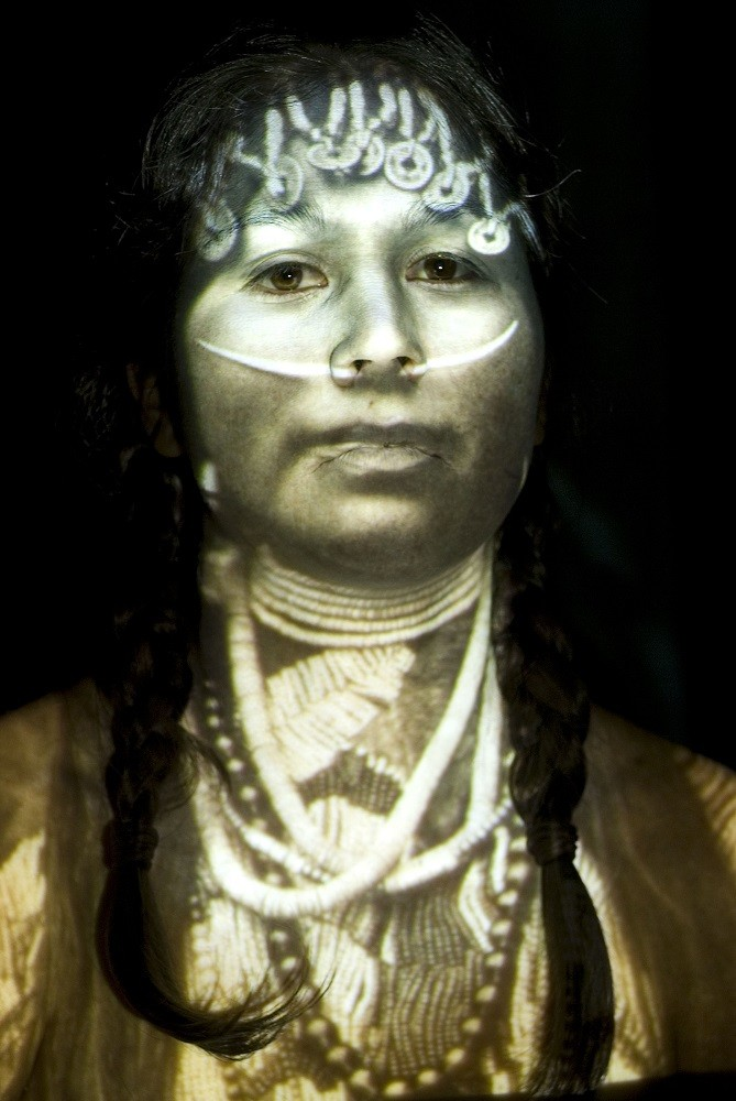 "<span class=""link fancybox-details-link""><a href=""/artists/122-meryl-mcmaster/works/32141-meryl-mcmaster-ancestral-9-2008/"">View Detail Page</a></span><div class=""artist""><strong>Meryl McMaster</strong></div> b. 1988 <div class=""title""><em>Ancestral 9</em>, 2008</div> <div class=""signed_and_dated"">From the series ""Ancestral""<br /> Signed, titled, dated, and editioned, au verso</div> <div class=""medium"">Chromogenic print</div> <div class=""dimensions"">30 x 40 inch (76.20 x 101.60 cm)</div> <div class=""edition_details"">Edition of 5 + 2 APs</div><div class=""copyright_line""> </div>"