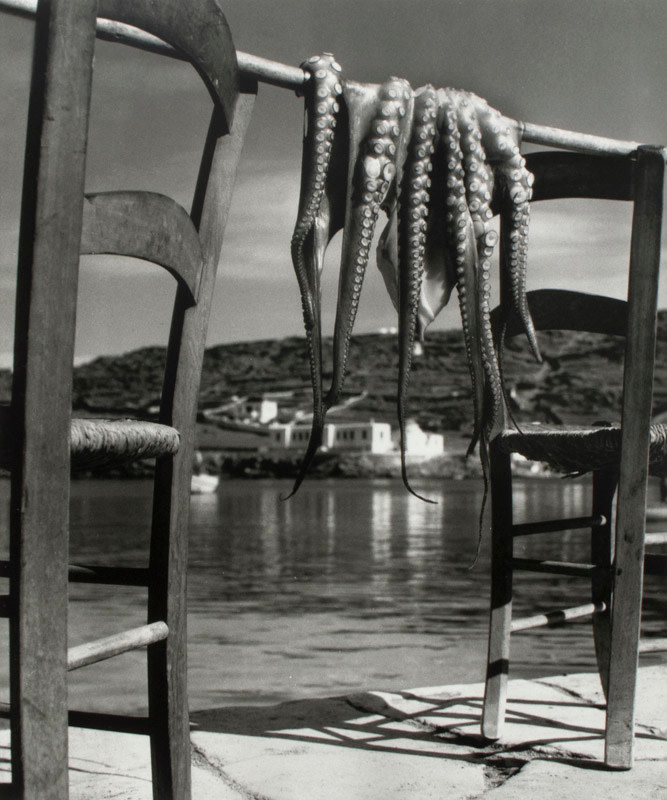 "<span class=""link fancybox-details-link""><a href=""/artists/52-herbert-list/works/20873-herbert-list-octopus-corfu-greece-1938/"">View Detail Page</a></span><div class=""artist""><strong>Herbert List</strong></div> 1903-1975 <div class=""title""><em>Octopus, Corfu, Greece</em>, 1938</div> <div class=""signed_and_dated"">Titled, dated, and editioned, with estate stamp, in ink, au verso<br /> Printed in 2014</div> <div class=""medium"">Gelatin silver print</div> <div class=""dimensions"">11 x 13 ¼ inch (27.94 x 33.66 cm) image<br /> 12 x 16 inch (30.48 x 40.64 cm) paper</div> <div class=""edition_details"">Edition of 25 (#9/25)</div><div class=""copyright_line"">© The Estate of Herbert List</div>"