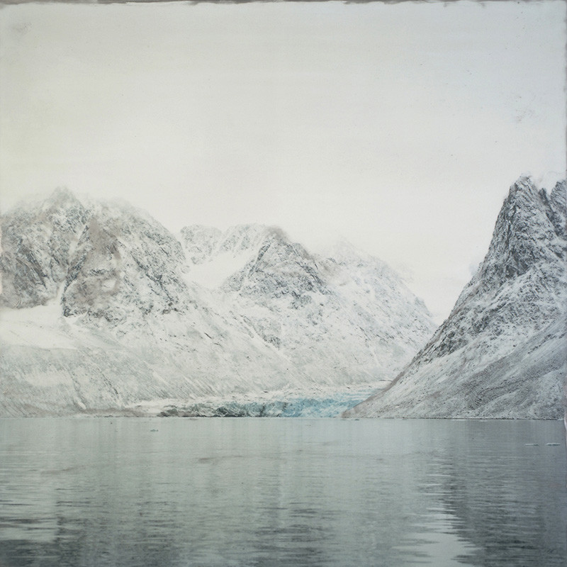 "<span class=""link fancybox-details-link""><a href=""/artists/109-shoshannah-white/works/31590-shoshannah-white-magadelenafjord-gravneset-glacier-2015/"">View Detail Page</a></span><div class=""artist""><strong>Shoshannah White</strong></div> <div class=""title""><em>Magadelenafjord Gravneset Glacier</em>, 2015</div> <div class=""signed_and_dated"">Signed, titled, dated, and editioned, in ink, au verso <br /> Printed in 2016</div> <div class=""medium"">Unique pigment print with hand-applied encaustic wax, oil paint, and metal dust mounted to custom wooden frame</div> <div class=""dimensions"">36 x 36 inch (91.44 x 91.44 cm) </div> <div class=""edition_details"">Edition of 5 (#1/5)</div><div class=""copyright_line""> </div>"