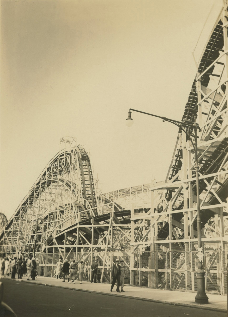 "<span class=""link fancybox-details-link""><a href=""/artists/88-alexander-artway/works/19993-alexander-artway-cyclone-ride-two-humps-coney-island-july-4-1935/"">View Detail Page</a></span><div class=""artist""><strong>Alexander Artway</strong></div> <div class=""title""><em>Cyclone Ride, two humps, Coney Island</em>, July 4, 1935</div> <div class=""signed_and_dated"">Artist stamp, in ink, au verso<br /> Printed circa 1935</div> <div class=""medium"">Gelatin silver print</div> <div class=""dimensions"">4 ½ x 3 ¼ inch (11.43 x 8.26 cm) image<br /> 5 x 3 ¾ inch (12.70 x 9.53 cm) paper</div> <div class=""edition_details""></div>"