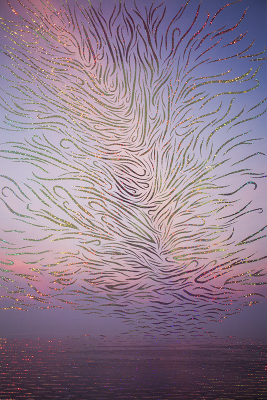"<span class=""link fancybox-details-link""><a href=""/artists/51-sarah-anne-johnson/works/34458-sarah-anne-johnson-pink-sky-and-wind-2018/"">View Detail Page</a></span><div class=""artist""><strong>Sarah Anne Johnson</strong></div> b. 1976 <div class=""title""><em>Pink Sky and Wind</em>, 2018</div> <div class=""signed_and_dated"">From the series ""Rosy Fingered Dawn""<br /> Signed, au mount verso<br /> Printed in 2018</div> <div class=""medium"">Unique pigment print on archival paper with hand-applied holographic tape and adhesive<br /> Mounted to Aluminum Composite Panel</div> <div class=""dimensions"">30 x 20 inch (76.20 x 50.80 cm) print<br /> 34 x 24 inch (86.36 x 60.96 cm) mount</div> <div class=""edition_details"">Edition of 3 + 1 AP (#2/3)</div>"