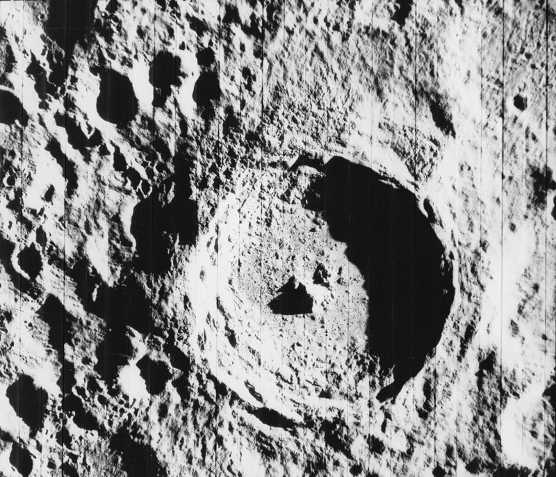 "<span class=""link fancybox-details-link""><a href=""/artists/133/series/other-works/18274-nasa-tycho-photograph-taken-from-the-lunar-orbiter-august-14-1967/"">View Detail Page</a></span><div class=""artist""><strong>NASA</strong></div> <div class=""title""><em>Tycho - Photograph taken from the Lunar Orbiter V</em>, August 14, 1967</div> <div class=""signed_and_dated"">Photo No. 67-H-1179<br /> Printed in 1967</div> <div class=""medium"">Gelatin silver print</div> <div class=""dimensions"">8 x 10 ½ inch (20.32 x 26.67 cm)</div> <div class=""edition_details""></div>"