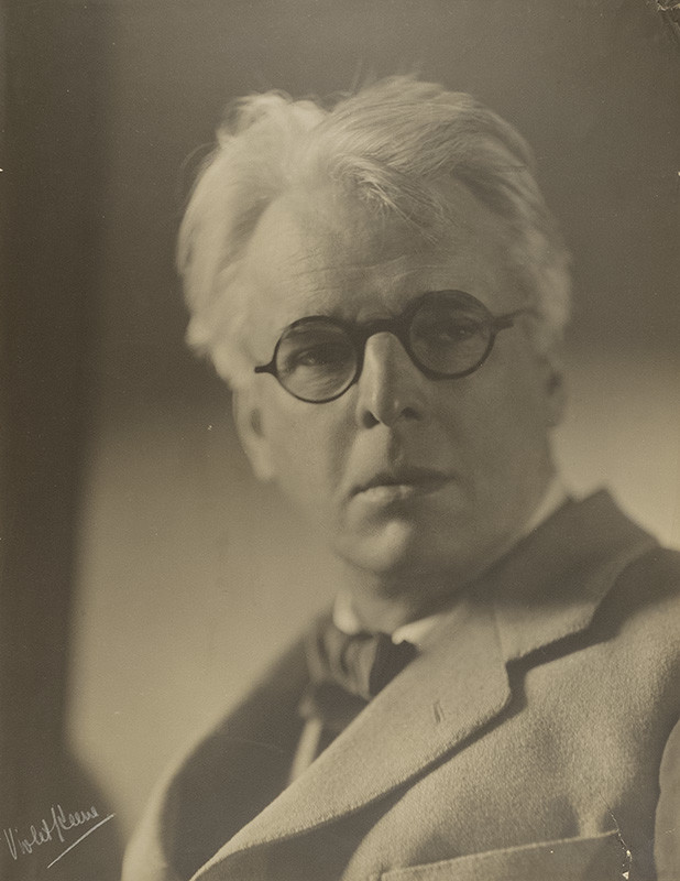 "<span class=""link fancybox-details-link""><a href=""/artists/130-violet-keene-perinchief/works/34217-violet-keene-perinchief-william-butler-yeats-circa-1930/"">View Detail Page</a></span><div class=""artist""><strong>Violet Keene Perinchief</strong></div> 1893-1987 <div class=""title""><em>William Butler Yeats</em>, circa 1930</div> <div class=""signed_and_dated"">Signed, in pencil, au recto<br /> Estate # V93<br /> Printed circa 1940</div> <div class=""medium"">Gelatin silver print mounted to two-ply period board</div> <div class=""dimensions"">19 ⅛ x 14 ⅝ inch (48.58 x 37.15 cm) print<br /> 35 ¾ x 27 ⅝ inch (90.81 x 70.17 cm) board</div> <div class=""edition_details""></div>"