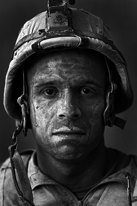 """<span class=&#34;link fancybox-details-link&#34;><a href=&#34;/artists/55-louie-palu/works/22569-louie-palu-u.s.-marine-gunnery-sgt.-carlos-oj-orjuela-age-2008/&#34;>View Detail Page</a></span><div class=&#34;artist&#34;><strong>Louie Palu</strong></div> b. 1968 <div class=&#34;title&#34;><em>U.S. Marine Gunnery Sgt. Carlos """"OJ"""" Orjuela age 31, Garmsir District, Helmand Province, Afghanistan, Forward Operating Base Dwyer. Carlos is from Neptune, New Jersey and he has done a tour of Iraq in addition to this tour.</em>, 2008</div> <div class=&#34;signed_and_dated&#34;>From the series &#34;Garmsir Marines&#34;<br /> Signed, titled, dated, and editioned, in ink, au verso<br /> Printed in 2017<br /> </div> <div class=&#34;medium&#34;>Pigment print on archival paper</div> <div class=&#34;dimensions&#34;>13 ¼ x 20 inch (33.66 x 50.8 cm) image<br /> 20 x 24 inch (50.8 x 60.96 cm) paper</div> <div class=&#34;edition_details&#34;>Edition of 25 (#7/25)</div><div class=&#34;copyright_line&#34;> </div>"""