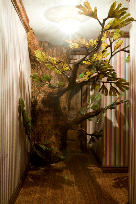 "<span class=""link fancybox-details-link""><a href=""/artists/51-sarah-anne-johnson/works/14696-sarah-anne-johnson-hallway-with-tree-2009/"">View Detail Page</a></span><div class=""artist""><strong>Sarah Anne Johnson</strong></div> <div class=""title""><em>Hallway with Tree</em>, 2009</div> <div class=""signed_and_dated"">Signed, titled, dated, and editioned, in ink, au verso<br /> Printed in 2009</div> <div class=""medium"">Chromogenic print</div> <div class=""dimensions"">13 x 8 ½ inch (33.02 x 21.59 cm) image<br /> 11 x 14 inch (27.94 x 35.56 cm) paper</div> <div class=""edition_details"">Edition of 10 (#3/10)</div><div class=""copyright_line""> </div>"