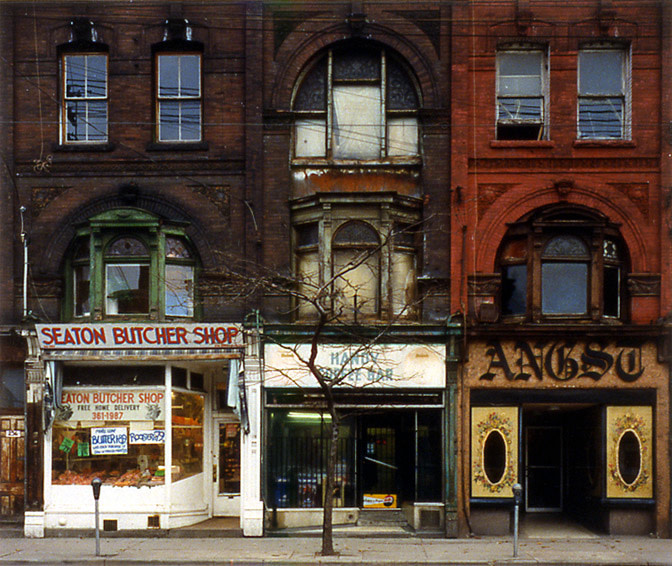 "<span class=""link fancybox-details-link""><a href=""/artists/96/series/mainstreets/11804-volker-seding-236-queen-street-east-toronto-1992/"">View Detail Page</a></span><div class=""artist""><strong>Volker Seding</strong></div> 1943-2007 <div class=""title""><em>236 Queen Street East, Toronto</em>, 1992</div> <div class=""signed_and_dated"">Titled, dated, and editioned, in pencil, au mount recto<br /> Estate stamp, in ink, au mount verso<br /> Printed in 1992</div> <div class=""medium"">Chromogenic print mounted to archival board</div> <div class=""dimensions"">12 ½ x 15 inch (31.75 x 38.1 cm) image<br /> 20 x 24 inch (50.8 x 60.96 cm) board</div> <div class=""edition_details"">Edition of 12 (#10/12)</div><div class=""copyright_line"">© The Estate of Volker Seding</div>"