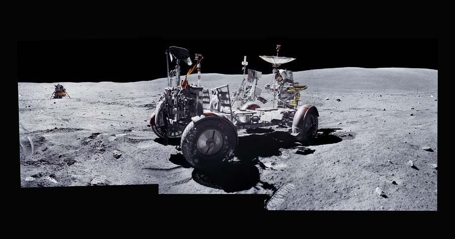 "<span class=""link fancybox-details-link""><a href=""/artists/132-michael-light/works/34591-michael-light-composite-of-john-young-and-the-lunar-rover-1999/"">View Detail Page</a></span><div class=""artist""><strong>Michael Light</strong></div> <div class=""title""><em>Composite of John Young and the Lunar Rover at the Descartes Highlands; Photographed by Charles Duke, Apollo 16, April 16-27, 1972</em>, 1999</div> <div class=""signed_and_dated"">Signed, au mount verso<br /> Artist Ref # 064<br /> Printed circa 2005</div> <div class=""medium"">Chromogenic print flush mounted to museum board</div> <div class=""dimensions"">48 x 93 inch (121.92 x 236.22 cm)</div> <div class=""edition_details"">Edition of 25 (#9/25)</div>"