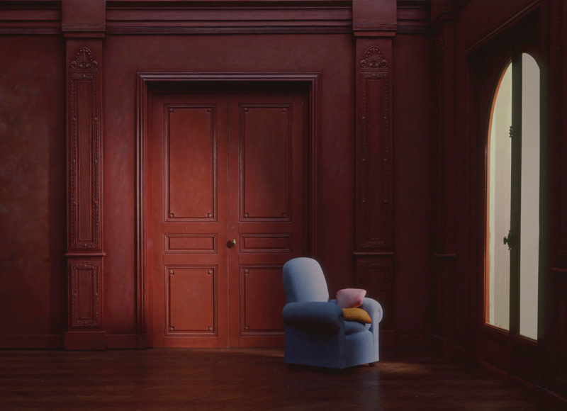 "<span class=""link fancybox-details-link""><a href=""/artists/71-charles-matton/works/20862-charles-matton-the-blue-armchair-in-a-red-living-room-1986/"">View Detail Page</a></span><div class=""artist""><strong>Charles Matton</strong></div> 1931-2008 <div class=""title""><em>The Blue Armchair in a Red Living Room</em>, 1986</div> <div class=""signed_and_dated"">Signed, by Sylvie Matton, au mount verso<br /> Printed in 2015</div> <div class=""medium"">Lambda Chromogenic print mounted to archival board</div> <div class=""dimensions"">21 ½ x 29 ¾ inch (54.61 x 75.57 cm) image<br /> 28 x 36 inch (71.12 x 91.44 cm) board</div> <div class=""edition_details"">Edition of 14 (#1/14)</div><div class=""copyright_line"">© The Estate of Charles Matton</div>"