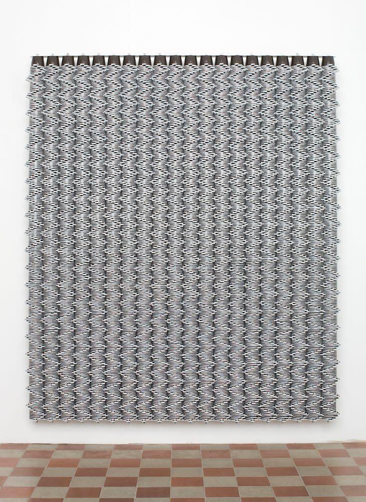 <span class=&#34;link fancybox-details-link&#34;><a href=&#34;/artists/44-jacob-dahlgren/works/7042/&#34;>View Detail Page</a></span><div class=&#34;artist&#34;><strong>Jacob Dahlgren</strong></div> <div class=&#34;title&#34;><em>Sydney</em>, 2006</div> <div class=&#34;medium&#34;>Coffee mugs and aluminium</div> <div class=&#34;dimensions&#34;>161 x 191 x 18 cm<br />63 3/8 x 75 1/4 x 7 in</div><div class=&#34;copyright_line&#34;>Copyright The Artist</div>