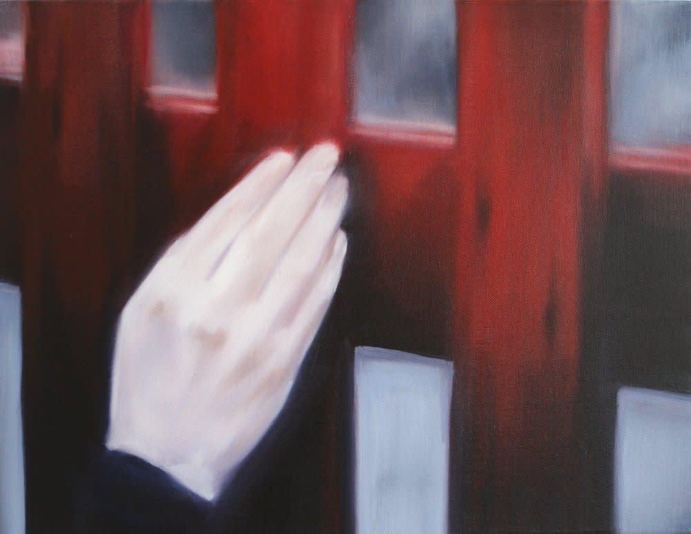 <span class=&#34;link fancybox-details-link&#34;><a href=&#34;/artists/14-rachel-lancaster/works/2287/&#34;>View Detail Page</a></span><div class=&#34;artist&#34;><strong>Rachel Lancaster</strong></div> <div class=&#34;title&#34;><em>Red Fence</em>, 2008</div> <div class=&#34;medium&#34;>Oil on Canvas</div> <div class=&#34;dimensions&#34;>36 x 46 x 2 cms<br />14.18 x 18.12 x 0.79 inches</div><div class=&#34;copyright_line&#34;>Copyright The Artist</div>