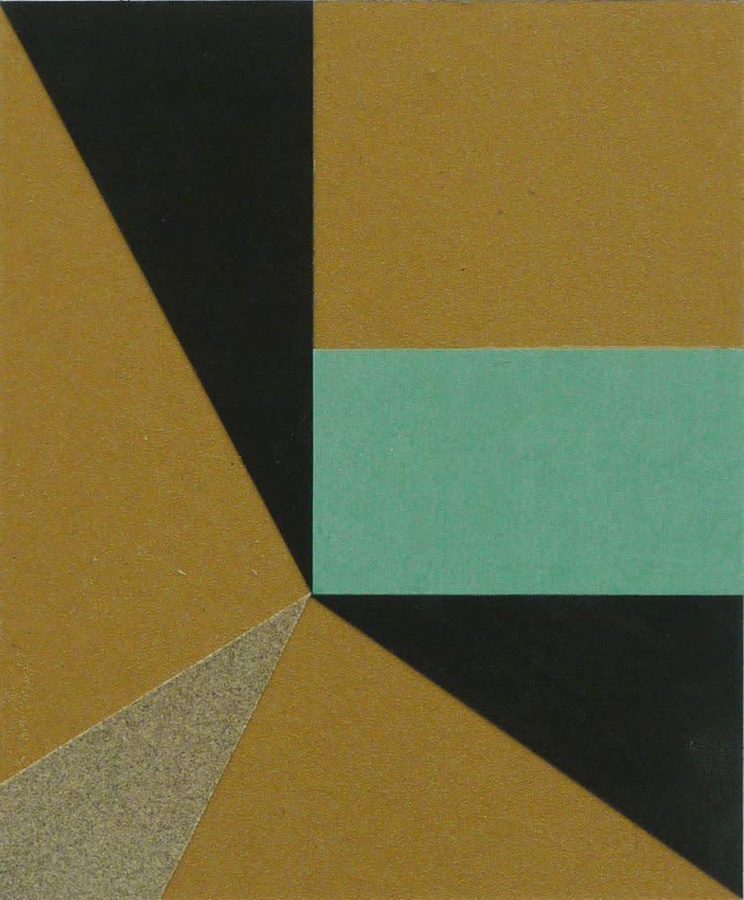 <span class=&#34;link fancybox-details-link&#34;><a href=&#34;/artists/44-jacob-dahlgren/works/6643/&#34;>View Detail Page</a></span><div class=&#34;artist&#34;><strong>Jacob Dahlgren</strong></div> <div class=&#34;title&#34;><em>Model For Understanding The World</em>, 2011</div> <div class=&#34;medium&#34;>Sandpaper Collage on Steel</div> <div class=&#34;dimensions&#34;>28 x 23 cm<br />11 1/8 x 9 1/8 in</div><div class=&#34;copyright_line&#34;>Copyright The Artist</div>