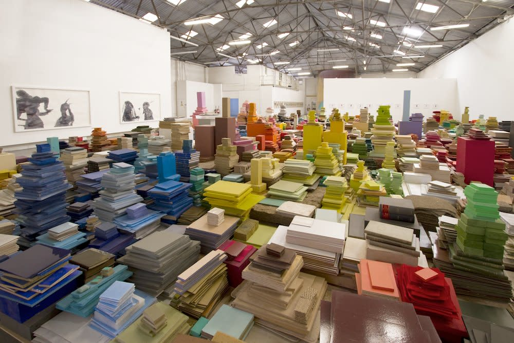 <span class=&#34;link fancybox-details-link&#34;><a href=&#34;/artists/44-jacob-dahlgren/works/7030/&#34;>View Detail Page</a></span><div class=&#34;artist&#34;><strong>Jacob Dahlgren</strong></div> <div class=&#34;title&#34;><em>Colour reading and contexture</em>, 2010</div> <div class=&#34;medium&#34;>Mixed Media</div> <div class=&#34;dimensions&#34;>1700 x 1400 x 270 cm<br />669 1/4 x 551 1/8 x 106 1/4 in</div><div class=&#34;copyright_line&#34;>Copyright The Artist</div>