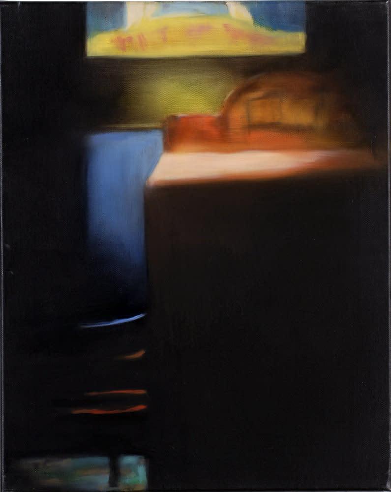<span class=&#34;link fancybox-details-link&#34;><a href=&#34;/artists/14-rachel-lancaster/works/1636/&#34;>View Detail Page</a></span><div class=&#34;artist&#34;><strong>Rachel Lancaster</strong></div> <div class=&#34;title&#34;><em>Hut</em>, 2007</div> <div class=&#34;medium&#34;>Oil on Canvas</div> <div class=&#34;dimensions&#34;>50 x 40 cms<br />19.7 x 15.76 inches</div><div class=&#34;copyright_line&#34;>Copyright The Artist</div>