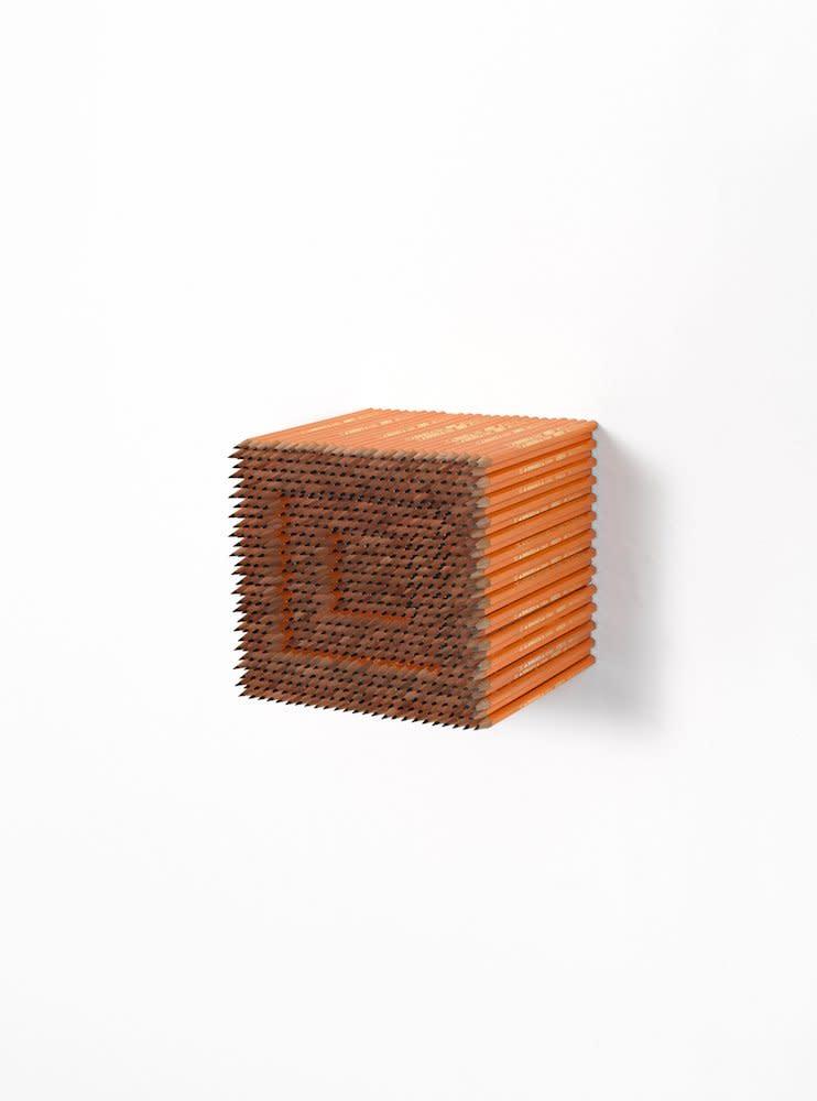 <span class=&#34;link fancybox-details-link&#34;><a href=&#34;/artists/44-jacob-dahlgren/works/7409/&#34;>View Detail Page</a></span><div class=&#34;artist&#34;><strong>Jacob Dahlgren</strong></div> <div class=&#34;title&#34;><em>Item 21; Subject of Art</em>, 2012</div> <div class=&#34;medium&#34;>Pencils</div> <div class=&#34;dimensions&#34;>17.5 x 17.5 x 17.5 cm<br />6 7/8 x 6 7/8 x 6 7/8 in</div><div class=&#34;copyright_line&#34;>Copyright The Artist</div>