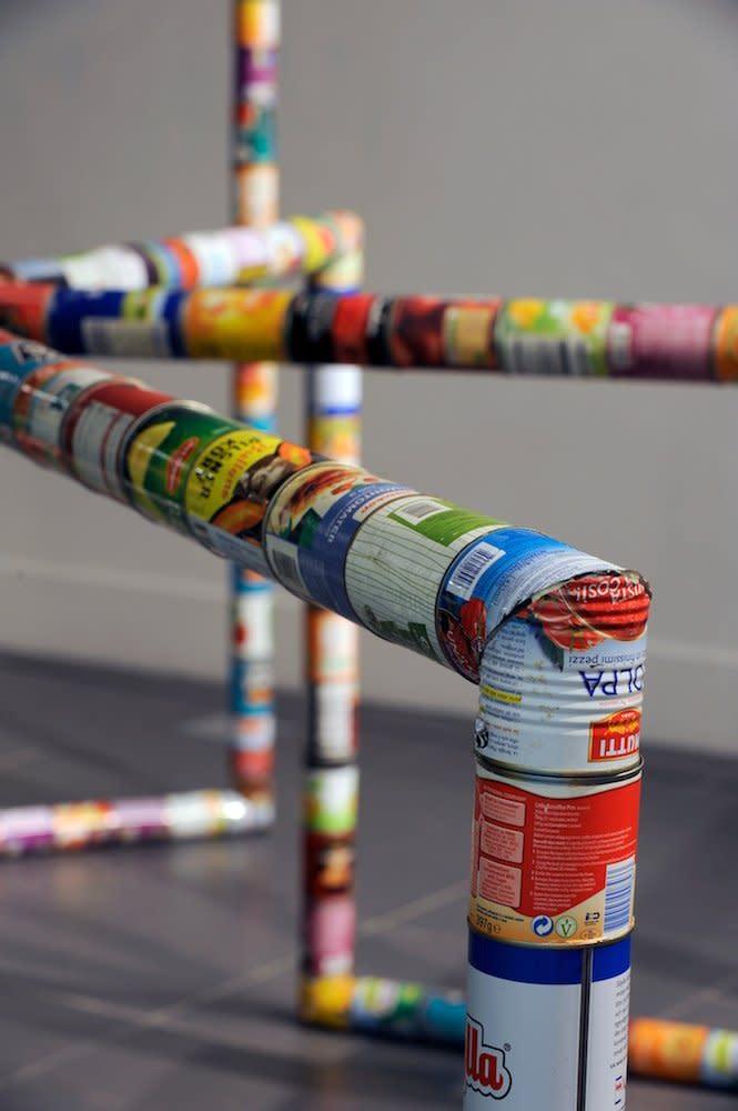<span class=&#34;link fancybox-details-link&#34;><a href=&#34;/artists/44-jacob-dahlgren/works/7070/&#34;>View Detail Page</a></span><div class=&#34;artist&#34;><strong>Jacob Dahlgren</strong></div> <div class=&#34;title&#34;><em>From Art to Life (Sunderland) detail</em>, 2011</div> <div class=&#34;medium&#34;>Food cans and steel</div> <div class=&#34;dimensions&#34;>206 x 250 x 350 cm<br />81 1/8 x 98 3/8 x 137 3/4 in</div><div class=&#34;copyright_line&#34;>Copyright The Artist</div>
