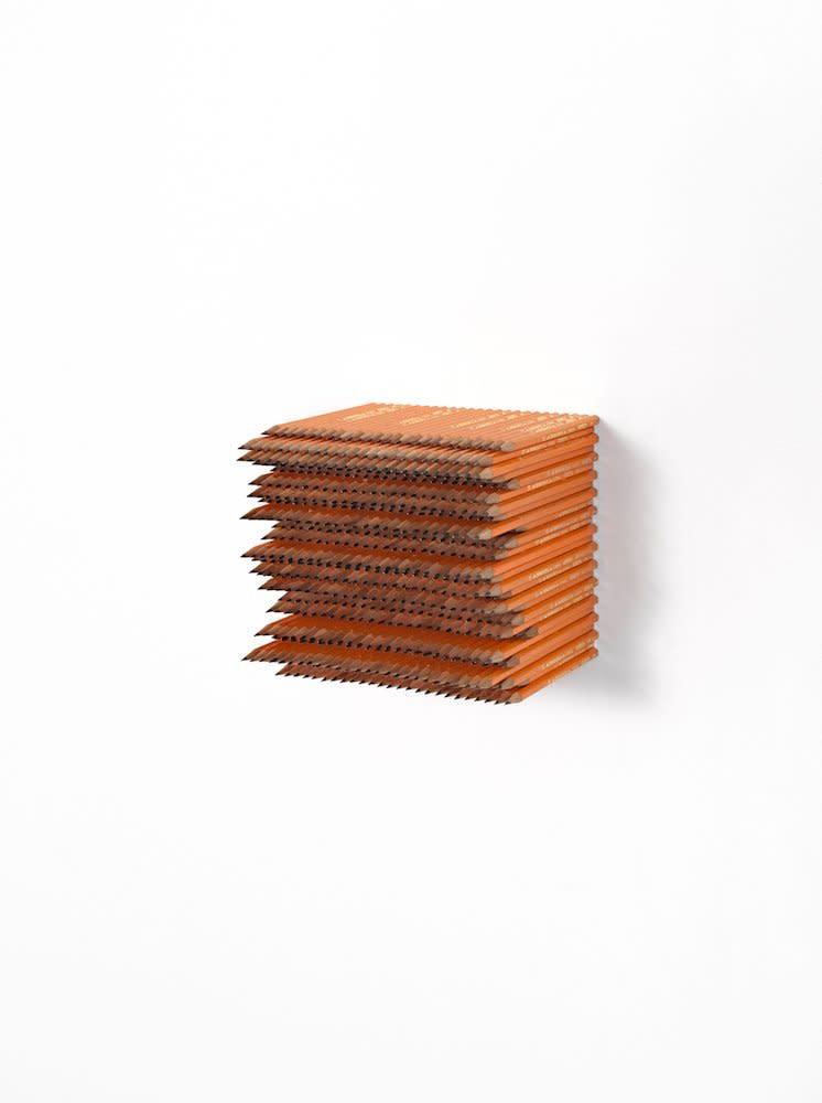 <span class=&#34;link fancybox-details-link&#34;><a href=&#34;/artists/44-jacob-dahlgren/works/7408/&#34;>View Detail Page</a></span><div class=&#34;artist&#34;><strong>Jacob Dahlgren</strong></div> <div class=&#34;title&#34;><em>Item 20; Subject of Art</em>, 2012</div> <div class=&#34;medium&#34;>Pencils</div> <div class=&#34;dimensions&#34;>17.5 x 17.5 x 17.5 cm<br />6 7/8 x 6 7/8 x 6 7/8 in</div><div class=&#34;copyright_line&#34;>Copyright The Artist</div>