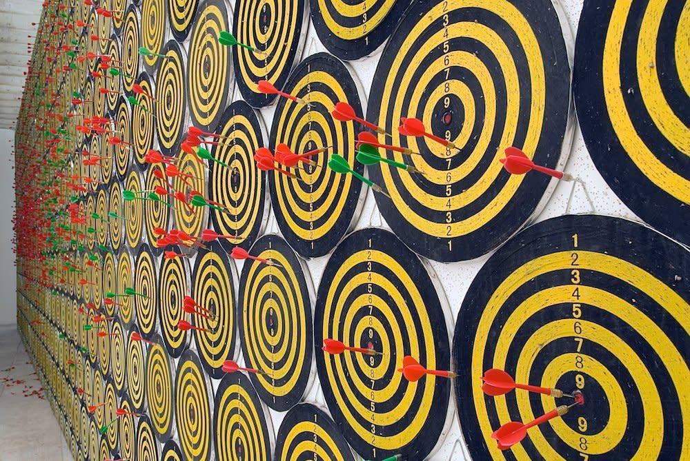<span class=&#34;link fancybox-details-link&#34;><a href=&#34;/artists/44-jacob-dahlgren/works/7040/&#34;>View Detail Page</a></span><div class=&#34;artist&#34;><strong>Jacob Dahlgren</strong></div> <div class=&#34;title&#34;><em>I, The World, Things, Life</em>, 2007</div> <div class=&#34;medium&#34;>Interactive dart board installation,<br />Nordic Pavilion, Venice Biennale</div><div class=&#34;copyright_line&#34;>Copyright The Artist</div>