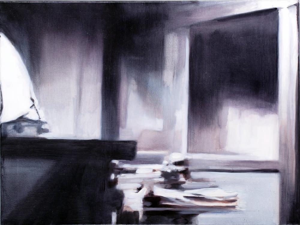 <span class=&#34;link fancybox-details-link&#34;><a href=&#34;/artists/14-rachel-lancaster/works/1638/&#34;>View Detail Page</a></span><div class=&#34;artist&#34;><strong>Rachel Lancaster</strong></div> <div class=&#34;title&#34;><em>Office</em>, 2007</div> <div class=&#34;medium&#34;>Oil on Canvas</div> <div class=&#34;dimensions&#34;>46 x 61 cms<br />18.12 x 24.03 inches</div><div class=&#34;copyright_line&#34;>Copyright The Artist</div>