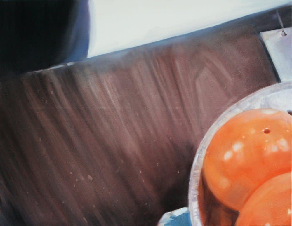 <span class=&#34;link fancybox-details-link&#34;><a href=&#34;/artists/14-rachel-lancaster/works/3818/&#34;>View Detail Page</a></span><div class=&#34;artist&#34;><strong>Rachel Lancaster</strong></div> <div class=&#34;title&#34;><em>Oranges</em>, 2009</div> <div class=&#34;medium&#34;>Oil on Canvas</div> <div class=&#34;dimensions&#34;>91 x 71 cms<br />35.85 x 27.97 inches</div><div class=&#34;copyright_line&#34;>Copyright The Artist</div>