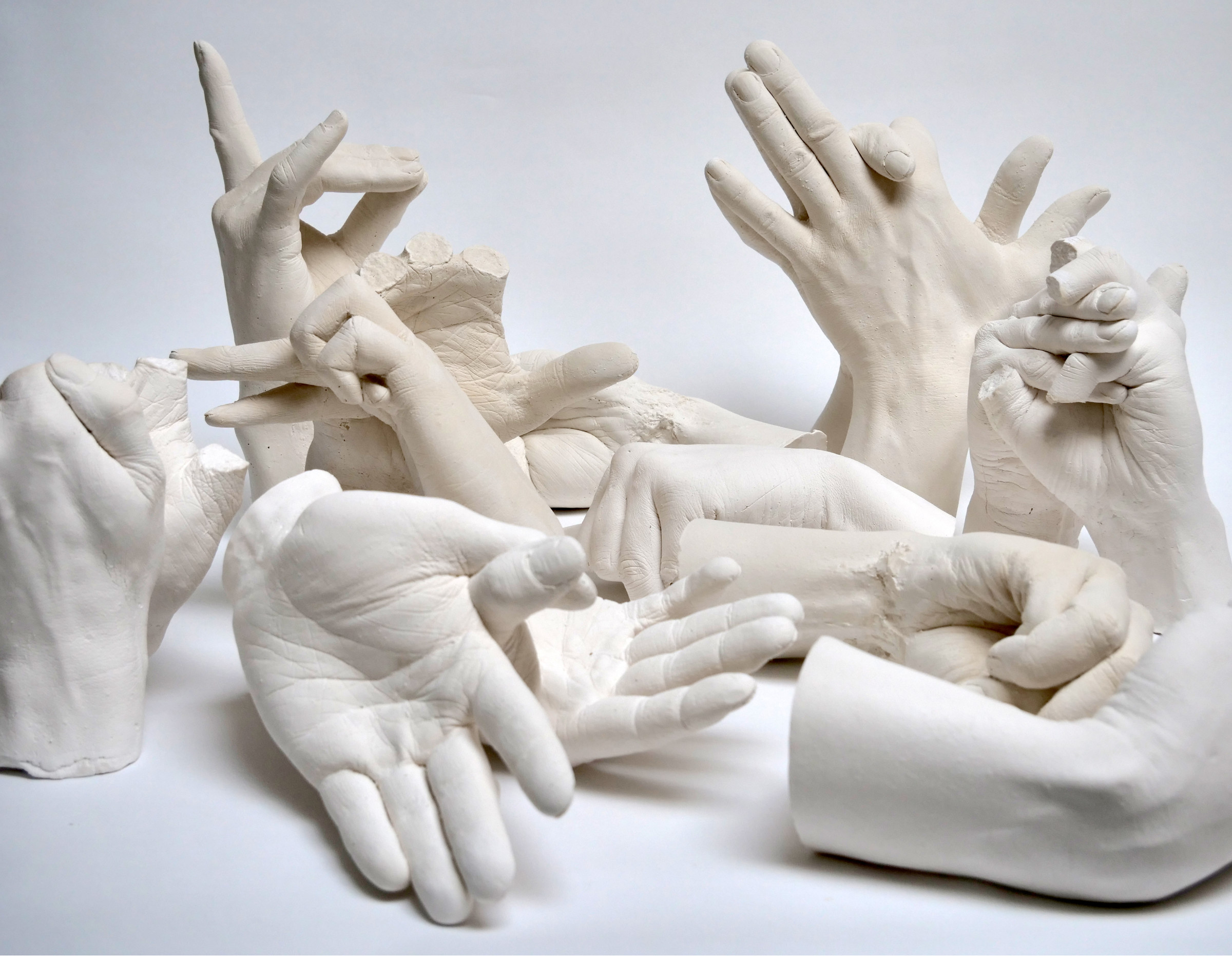 <span class=&#34;link fancybox-details-link&#34;><a href=&#34;/exhibitions/156/works/artworks10314/&#34;>View Detail Page</a></span><div class=&#34;medium&#34;>Plaster of Paris, cast from the artist's hands whilst performing the extinct animal's shadow<br /> </div> <div class=&#34;dimensions&#34;>110 x 110 x 60 cm (including plinth)<br /> 43 1/4 x 43 1/4 x 23 5/8 in</div>
