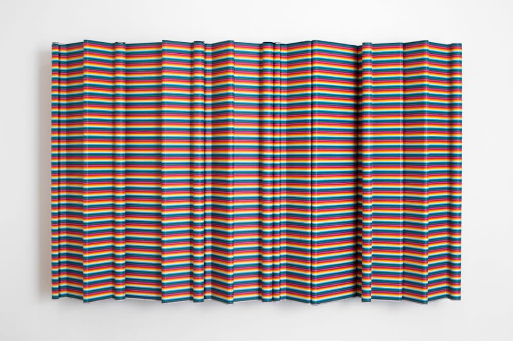 <span class=&#34;link fancybox-details-link&#34;><a href=&#34;/artists/44-jacob-dahlgren/works/7386/&#34;>View Detail Page</a></span><div class=&#34;artist&#34;><strong>Jacob Dahlgren</strong></div> <div class=&#34;title&#34;><em>Porto 1968</em>, 2011</div> <div class=&#34;medium&#34;>Clothes hangers and aluminium</div> <div class=&#34;dimensions&#34;>190 x 300 cm<br />74 3/4 x 118 1/8 in</div><div class=&#34;copyright_line&#34;>Copyright The Artist</div>